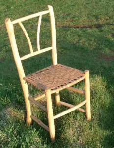 Bark seated chair