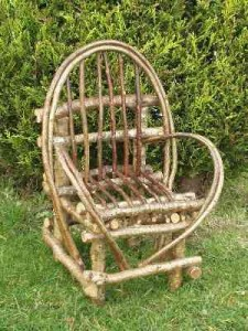Small bent hazel chair