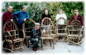 A bent hazel chair course at Sterts