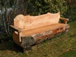Milled Log bench