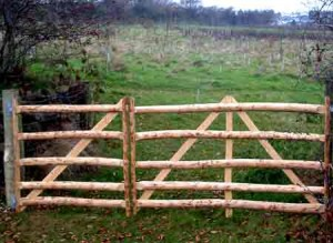 Community woodland gates