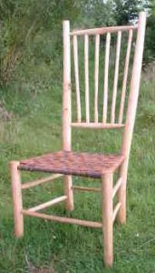 Ash with  chestnut bark seat