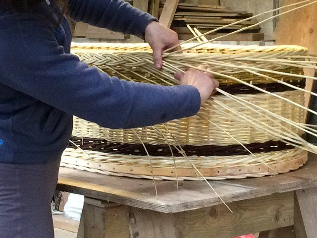 Jessie Carr weaving coffin