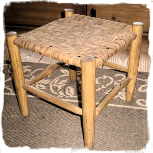 Elm bark stool